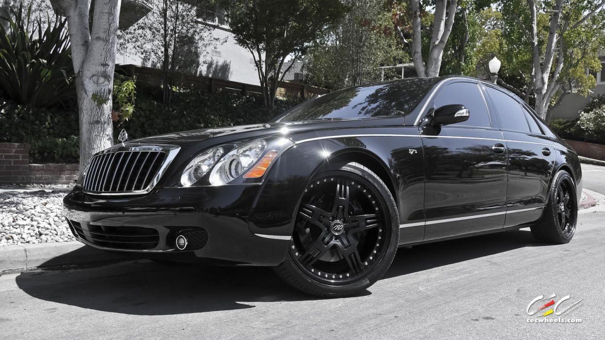 2015 cars CEC Tuning wheels Maybach 57s black wallpaper