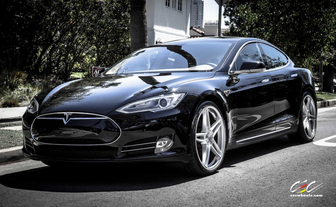 2015 cars CEC Tuning wheels tesla model-s wallpaper