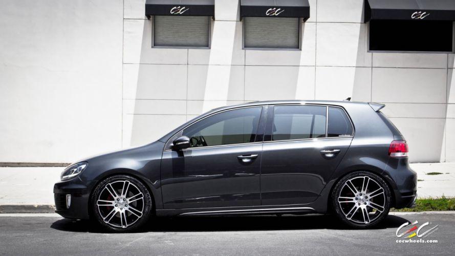 2015 cars CEC Tuning wheels VW golf GTI wallpaper