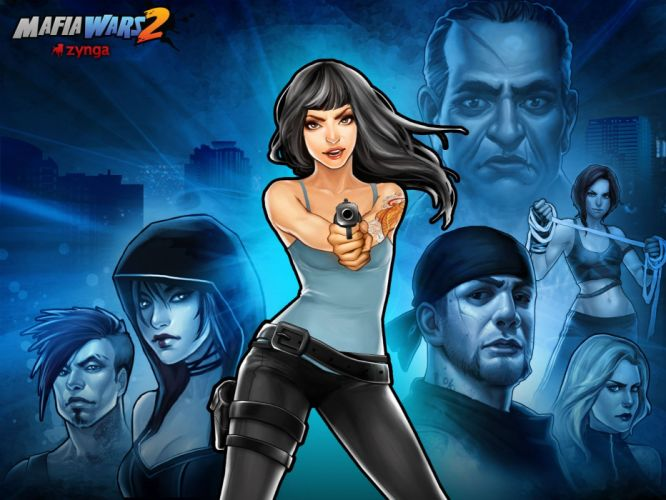 MAFIA II crime shooter action adventure fighting 1mafiall violence weapon gun babe wallpaper