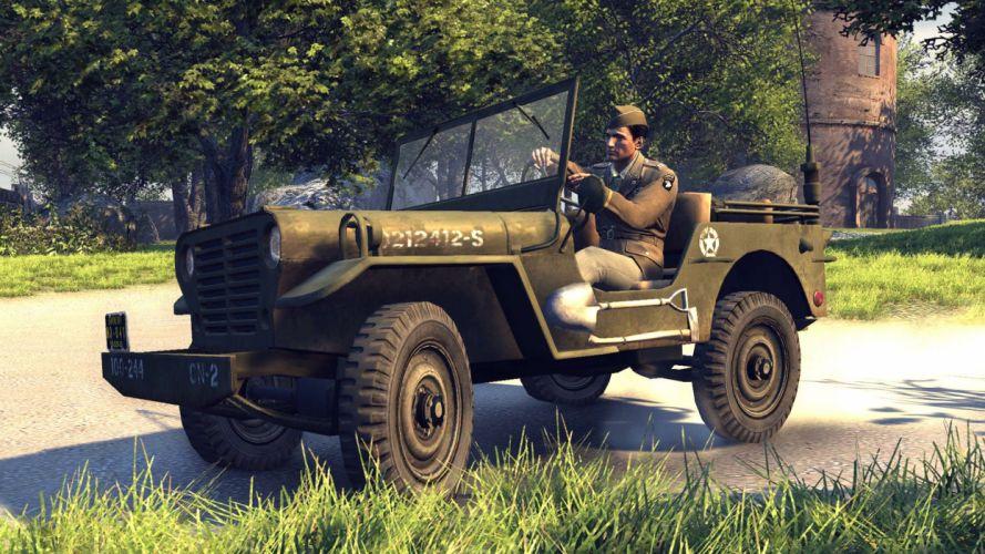 MAFIA II crime shooter action adventure fighting 1mafiall violence military jeep 4x4 wallpaper