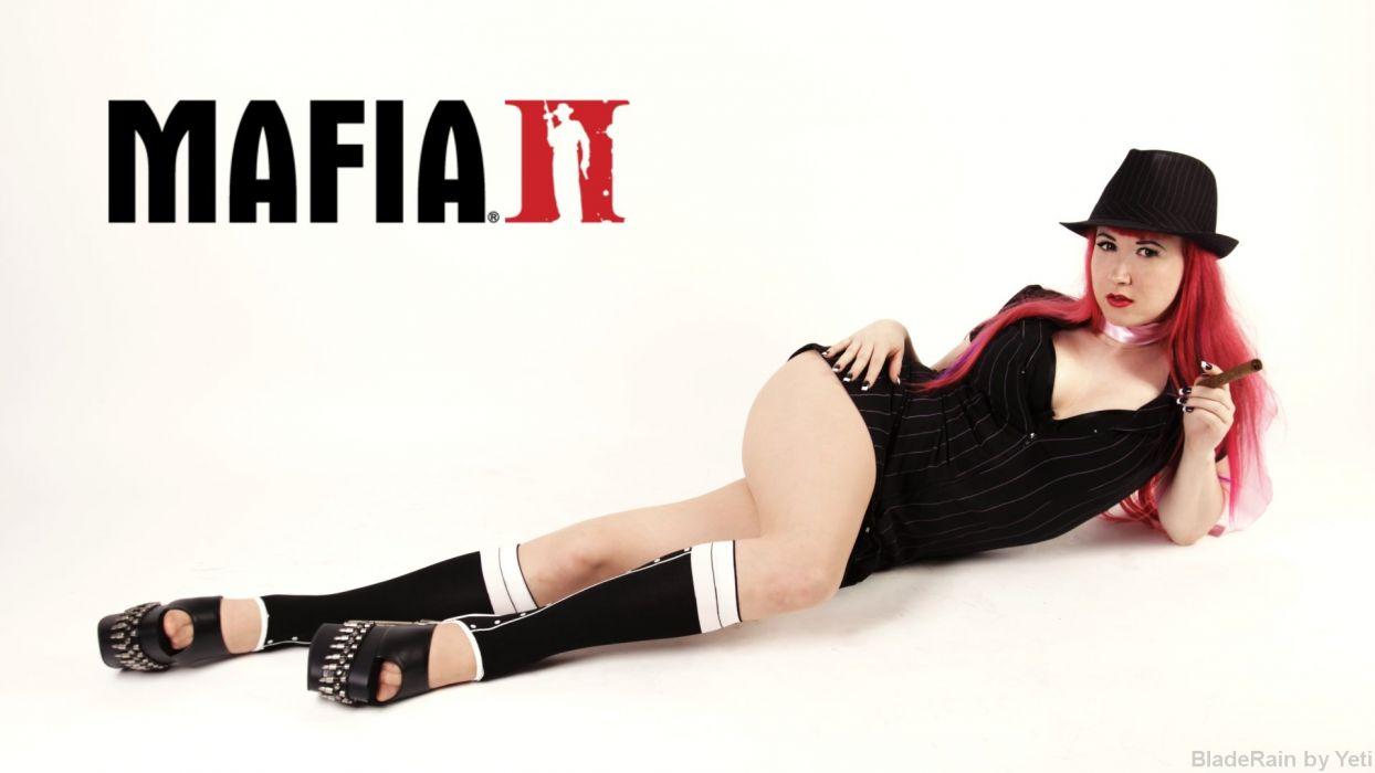 MAFIA II crime shooter action adventure fighting 1mafiall violence cosplay sexy babe rdhead wallpaper