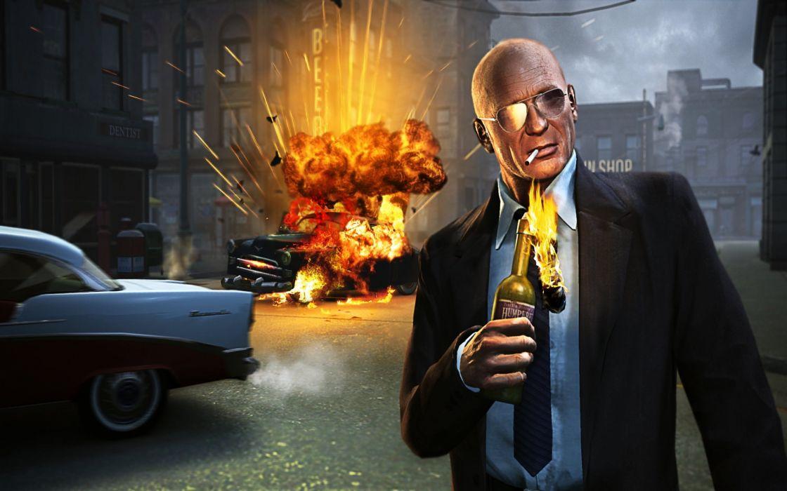 MAFIA II crime shooter action adventure fighting 1mafiall violence weapon gun fire explosion wallpaper