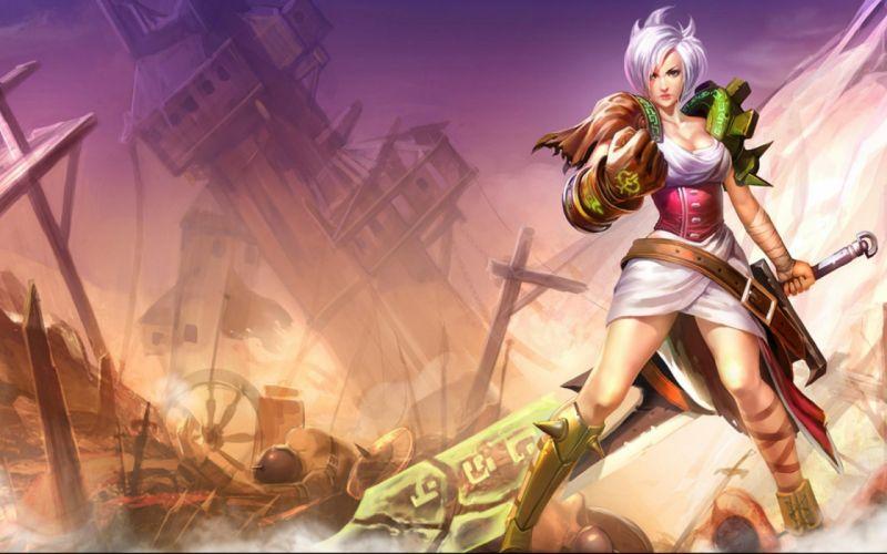 LEAGUE Of LEGENDS lol fantasy online fighting arena game mmo rpg warrior artwork wallpaper