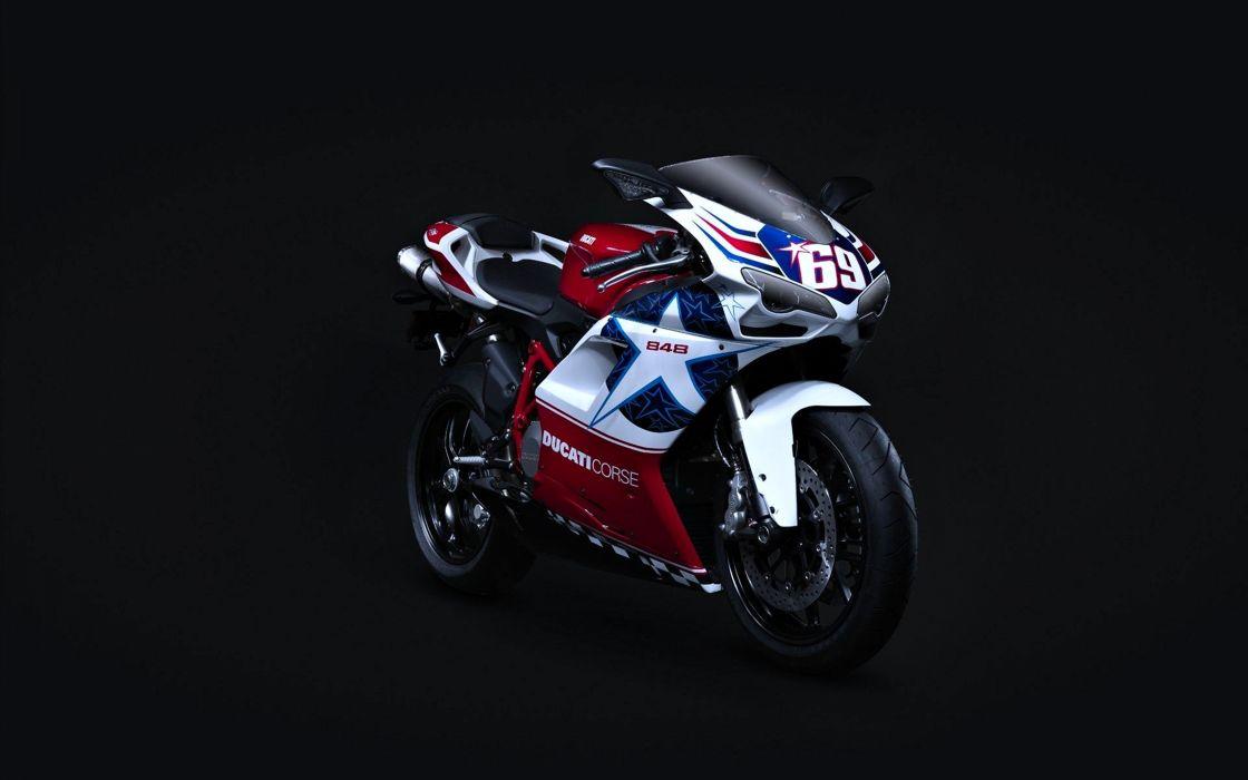 Bike - ducati - 848 - sports - motorcycle - Motorcyclist - Race - Speed wallpaper