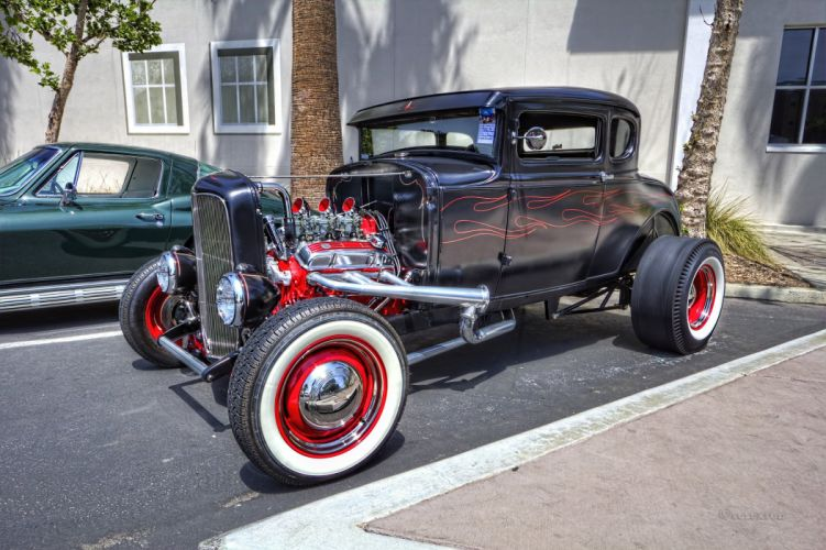 car classic hot rod USA classic retro wallpaper