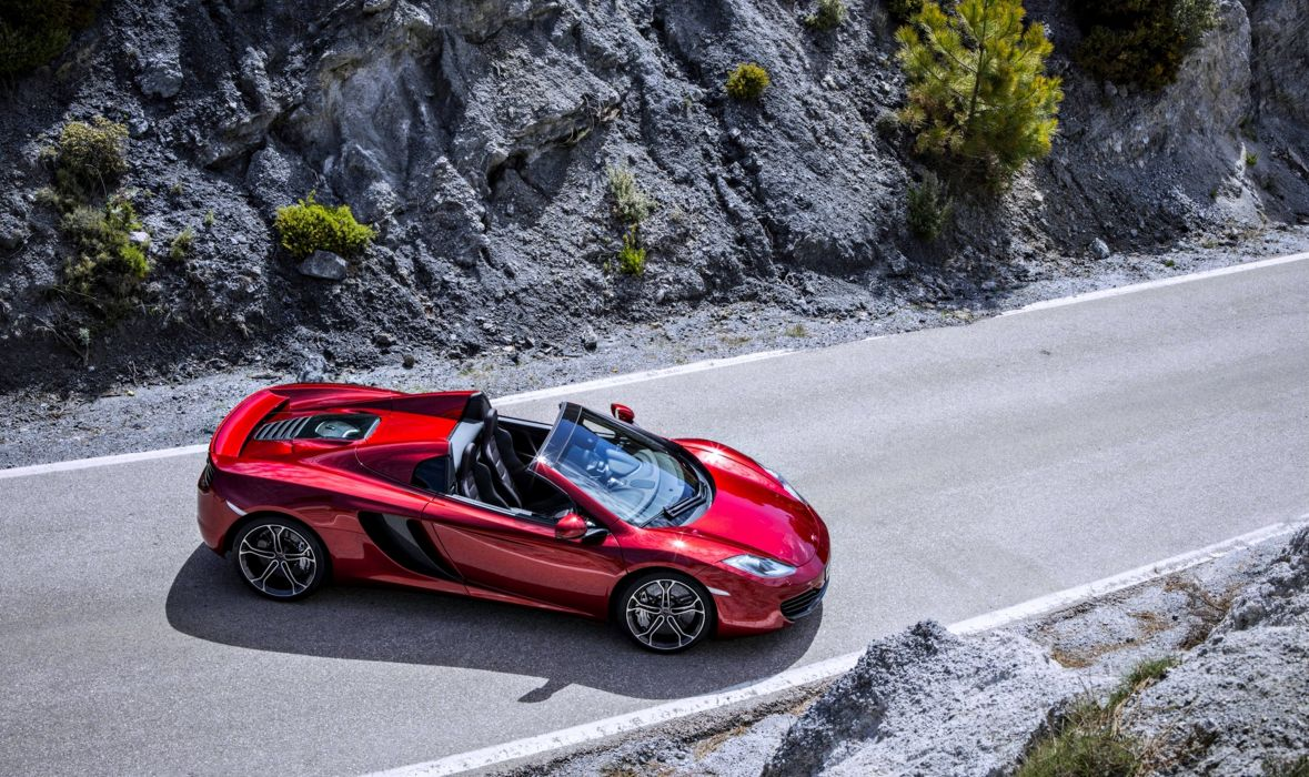 McLaren MP4-12 Spide road cars supercar red speed race motors roof fast wallpaper