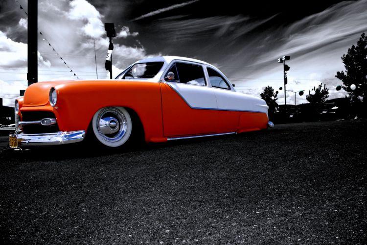 cars orange road old classic sky motors wallpaper