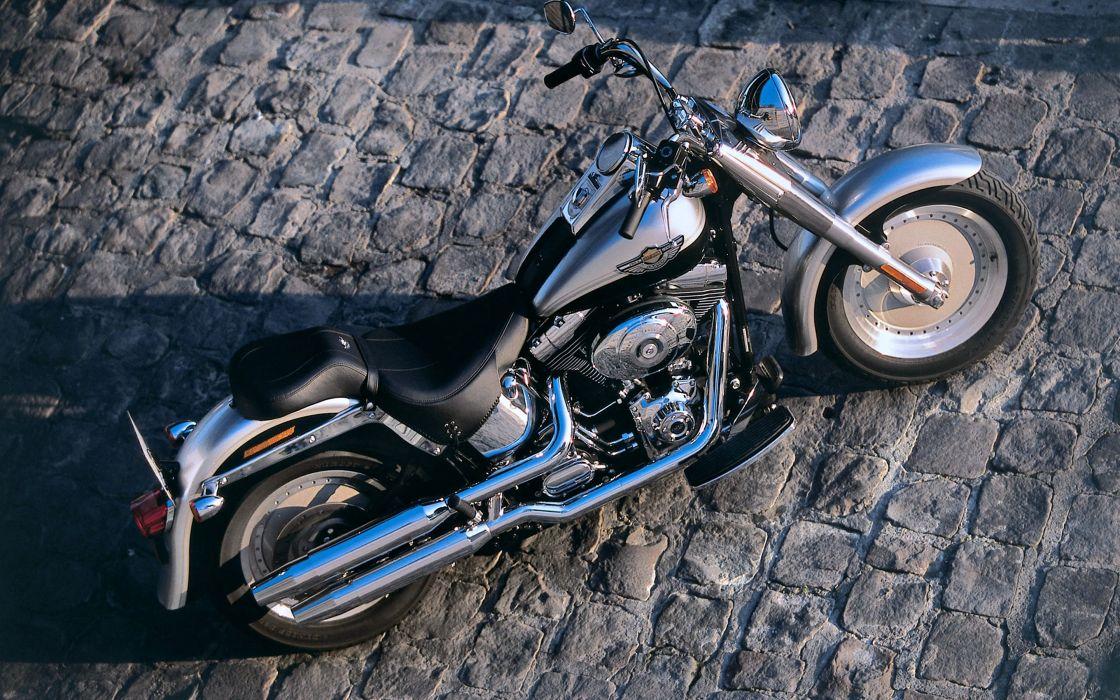 motorcycle bike Harley-Davidson speed race floor old classic wallpaper