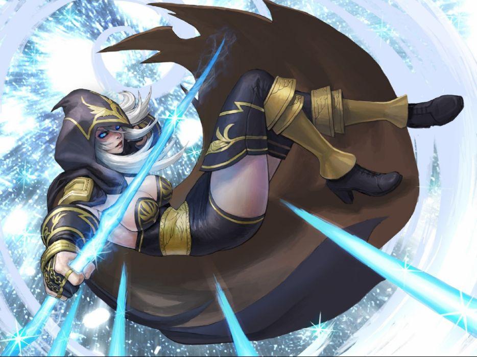 LEAGUE Of LEGENDS lol fantasy online fighting mmo rpg arena game artwork lol warrior action wallpaper