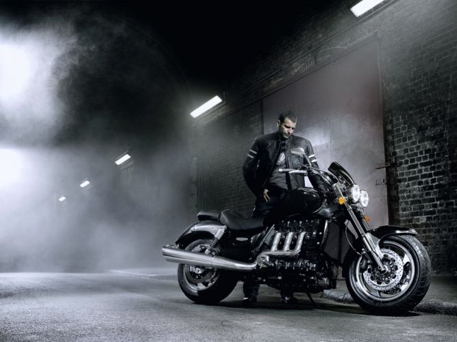 motorcycle bike Harley-Davidson speed race road fog old classic Motorcyclist Tunnel wallpaper