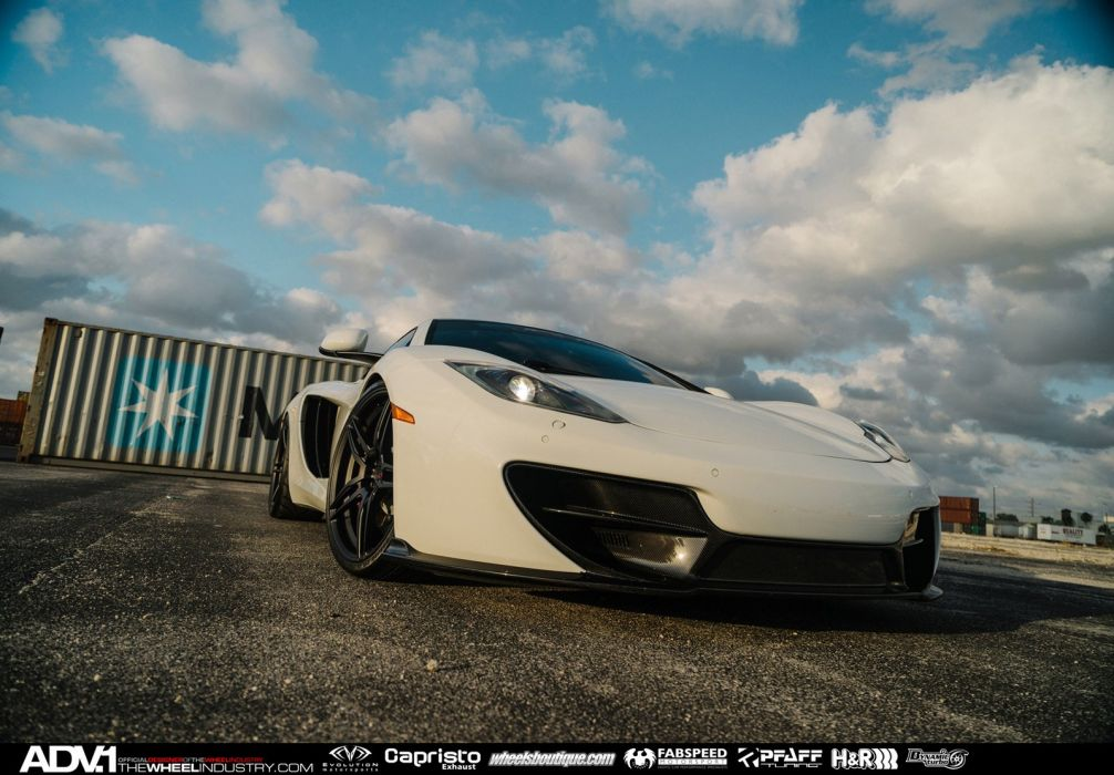 2015 ADV1 cars SUPERCARS coupe wheels tuning MCLAREN MP4 12C wallpaper