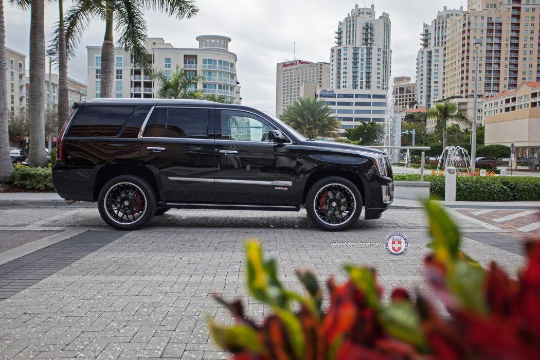 2015 cars hre Tuning wheels Cadillac Escalade black wallpaper