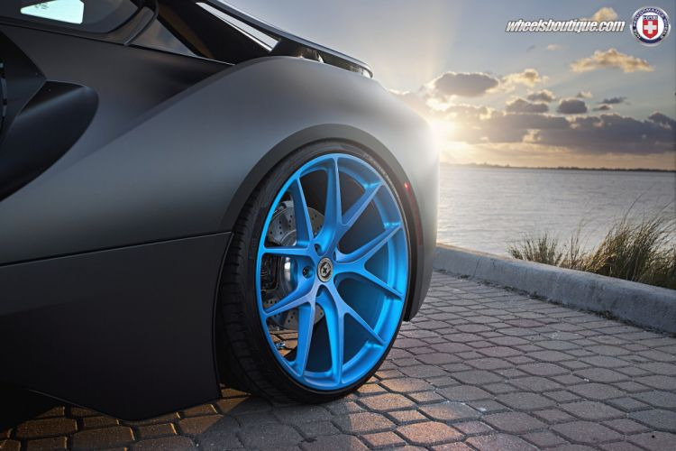 2015 cars HRE Tuning wheels BMW i8 electric black wallpaper
