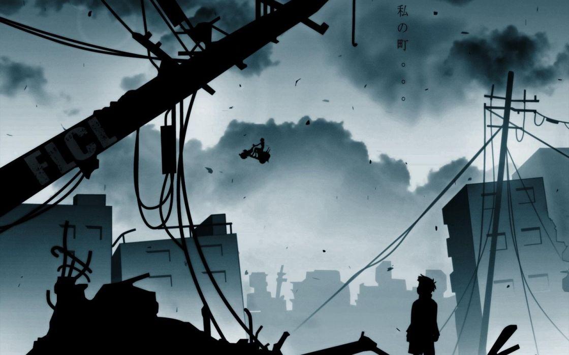 Serial Experiments Lain anime series cyberpunk horror sci-fi drama 1sel wallpaper