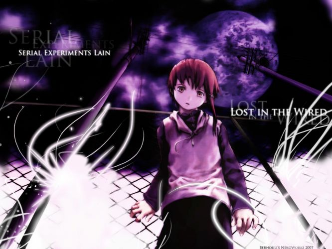 Serial Experiments Lain anime series cyberpunk horror sci-fi drama 1sel wallpaper