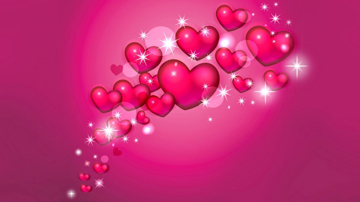 Pink Rose Heart Wallpapers Stars Fantasy Love Wallpaper 3840x2160
