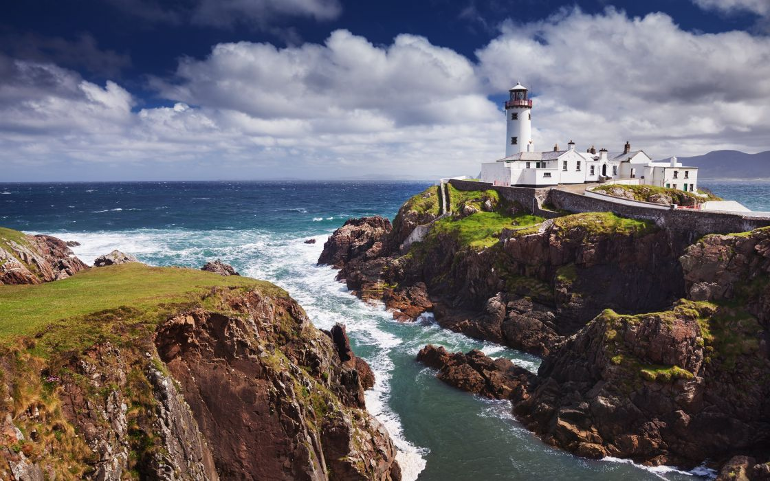 Cape Fanad Ireland fjord Lough Swilly the Atlantic Ocean the lighthouse coast rock cape ocean wallpaper