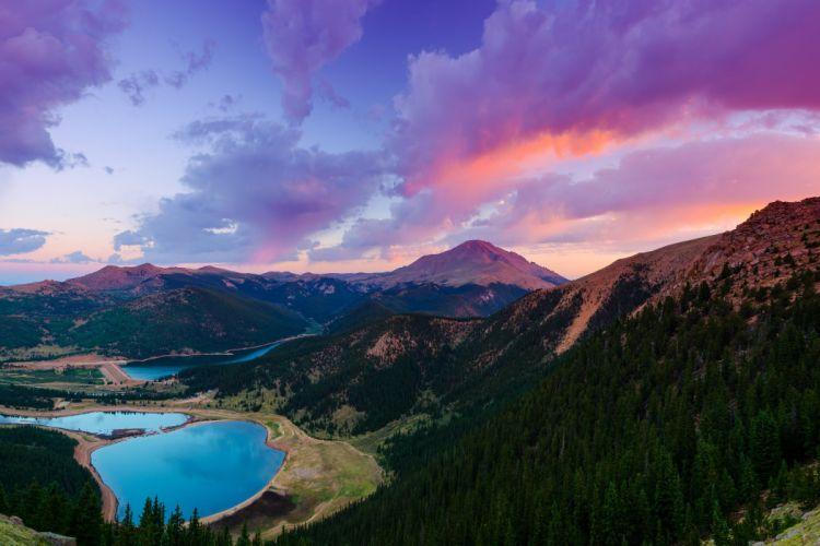 Colorado Pikes Peak Mountain United States wallpaper