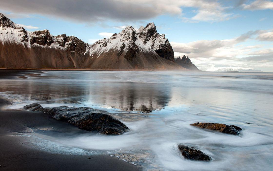 ice iceland mountain auster-skaftafellssysla landscape wallpaper