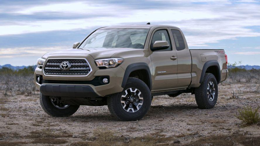 2016 Toyota Tacoma TRD Off-Road Access Cab 4x4 cars trucks desert landscape speed motors wallpaper