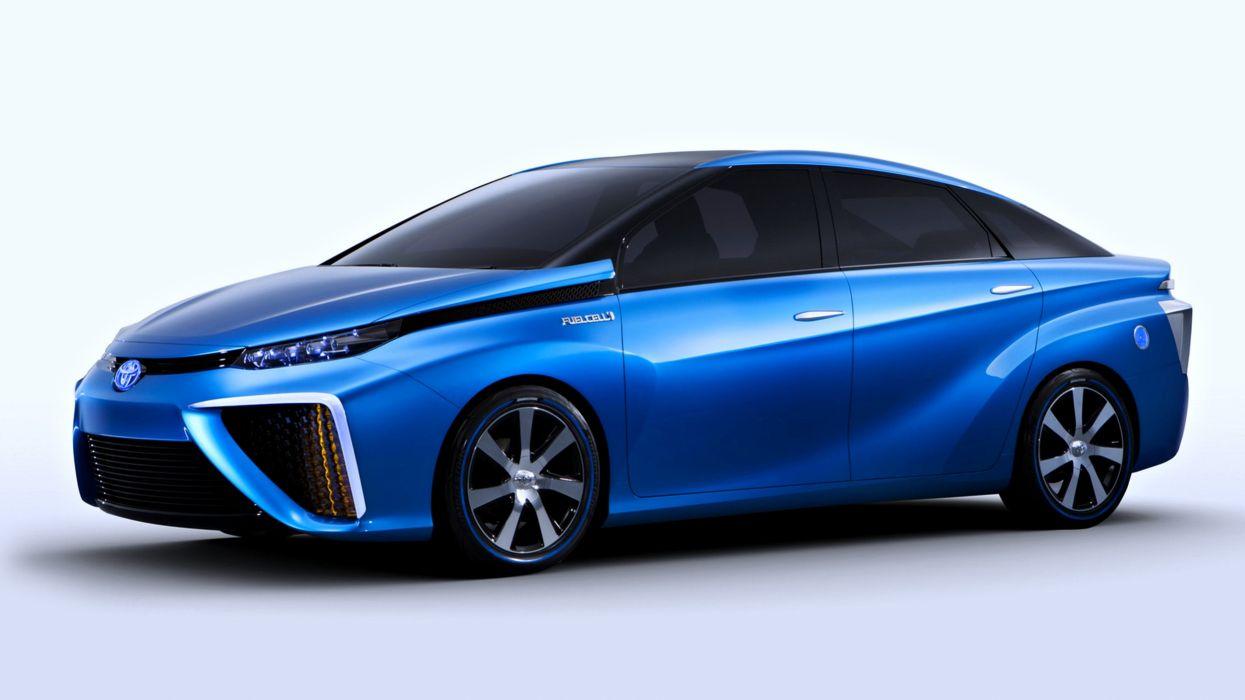 2013 Toyota FCV Concept blue speed cars motors auto wallpaper
