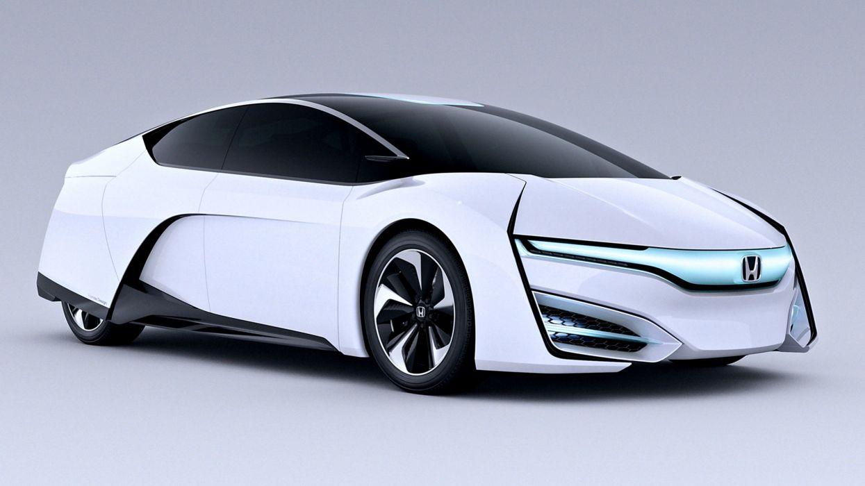2013 Honda FCEV Concept white supercar cars speed motors auto wallpaper