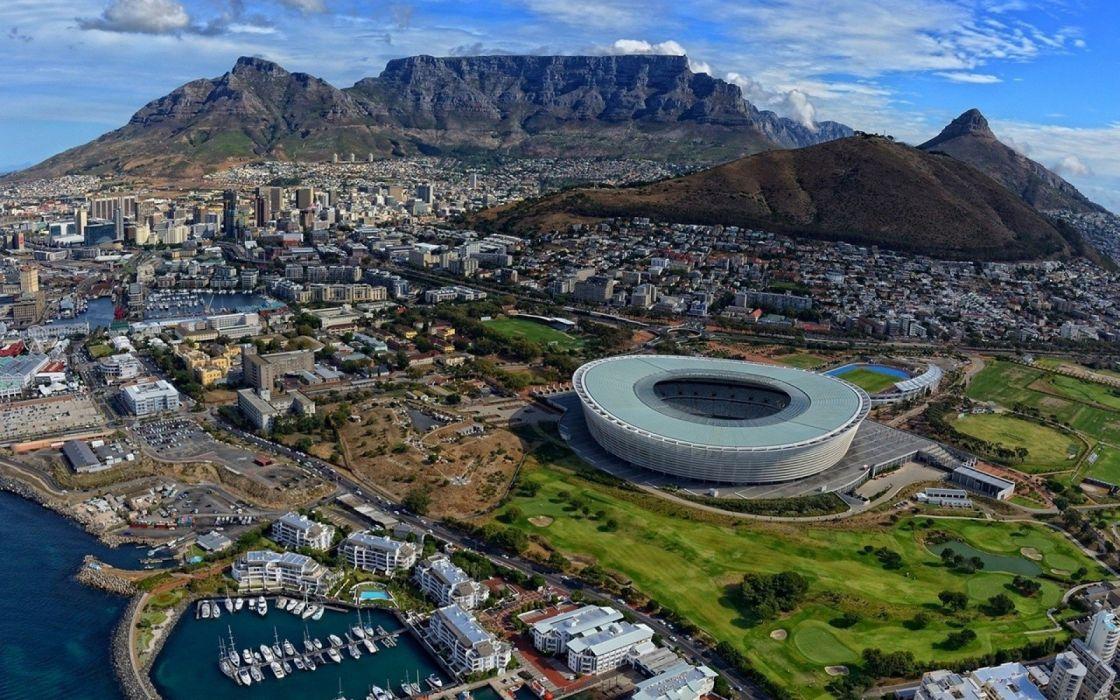 ciudad del cabo-sudafrica-estadio-ciudad-puerto wallpaper