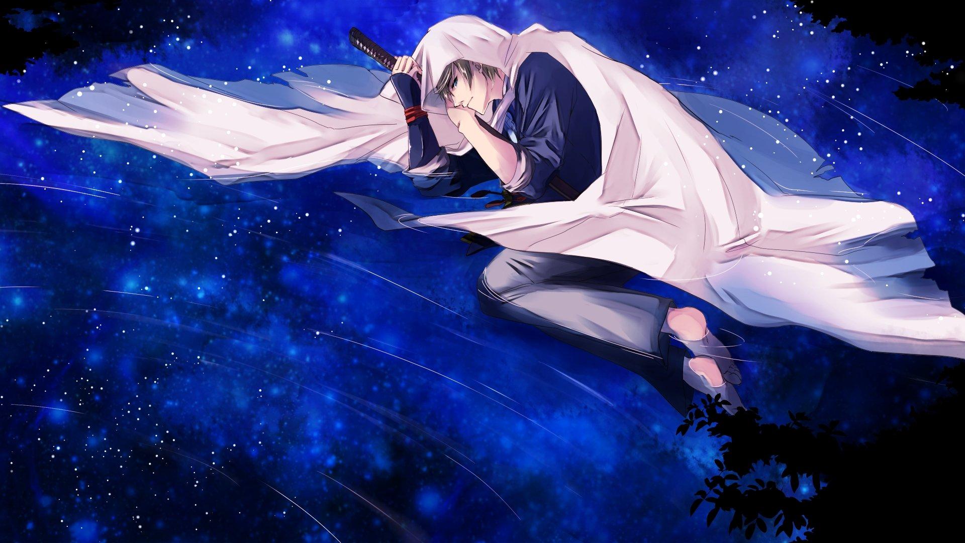 Touken sword blue anime boy wallpaper 1920x1080 629094 - Blue anime wallpaper ...