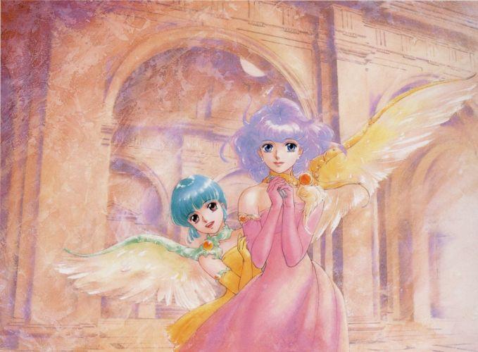 mahou+no+tenshi angel anime girls wings dress wallpaper