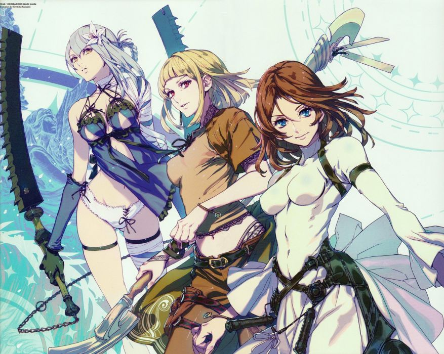 DRAKENGARD drag-on dragoon action rpg mmo online anime 1draken fighting fantasy wallpaper