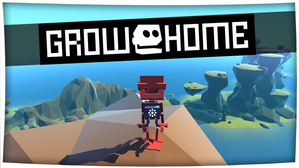 GROW HOME adventure platform sci-fi robot exploration family animation 1grh game poster wallpaper