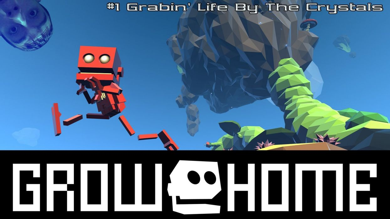 GROW HOME adventure platform sci-fi robot exploration family animation 1grh game poster wallpaper