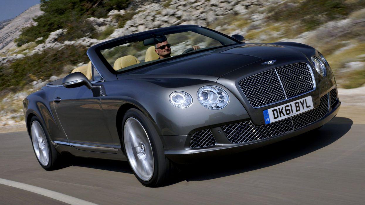 2011 Bentley Continental GTC road gray cars roof beach boat landscape speed motors wallpaper