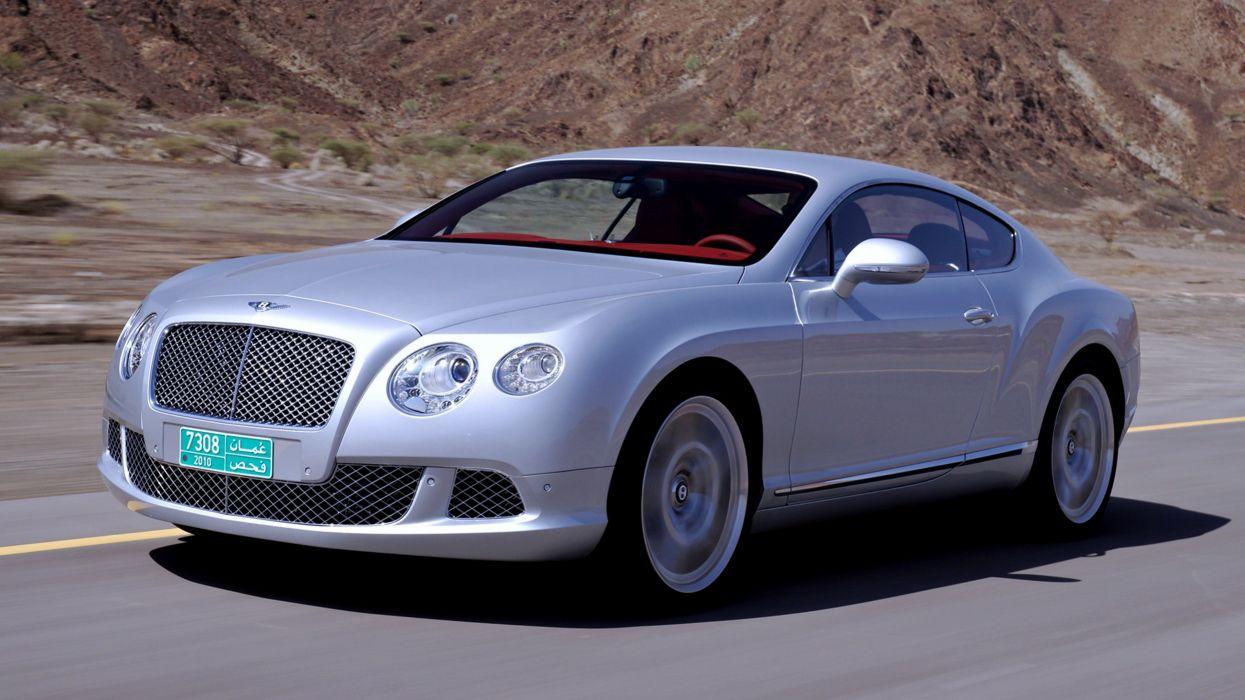 2011 Bentley Continental GT desert cars landscape gray silver oman road speed motors Luxury wallpaper