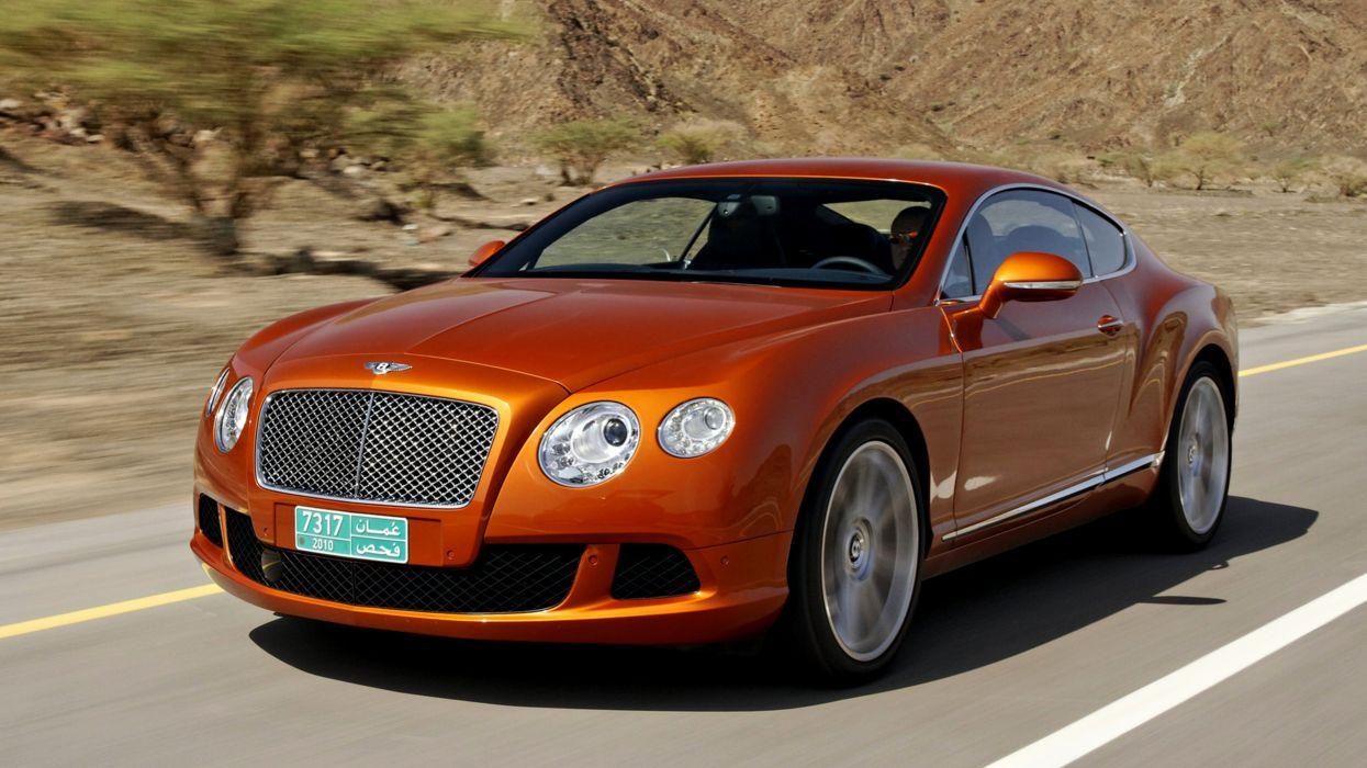2011 Bentley Continental GT desert cars landscape orange oman road speed motors Luxury wallpaper