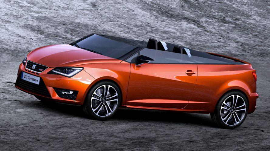 2014 Seat Ibiza Cupster orange roof cars speed motors wallpaper