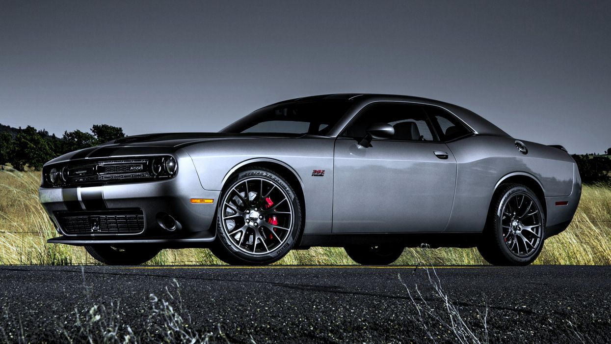 2015 Dodge Challenger SRT 392 gray silver road speed motors cars wallpaper