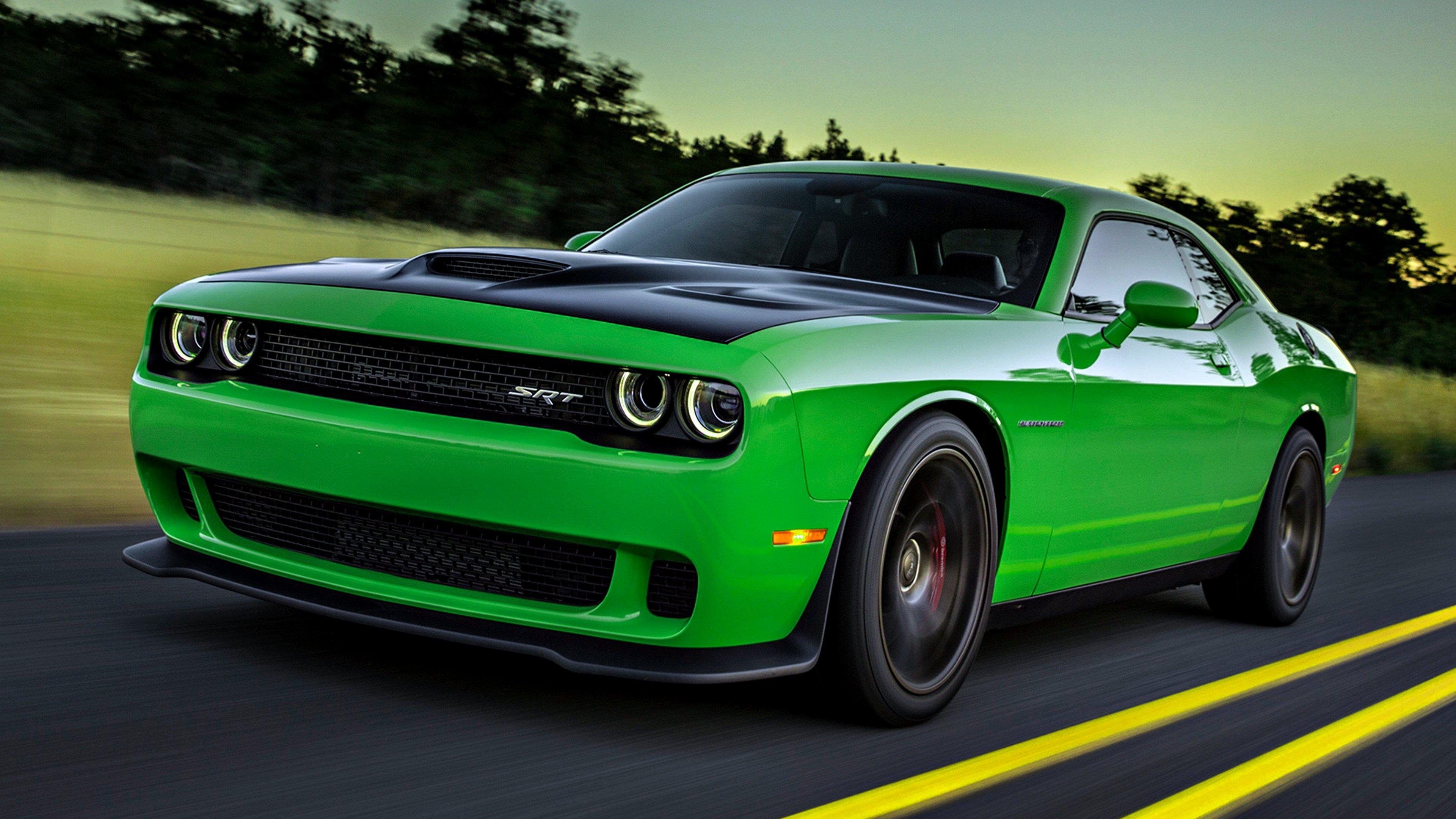 2015 dodge challenger srt hellcat cars motors road speed landscape green wallpaper 3840x2160. Black Bedroom Furniture Sets. Home Design Ideas