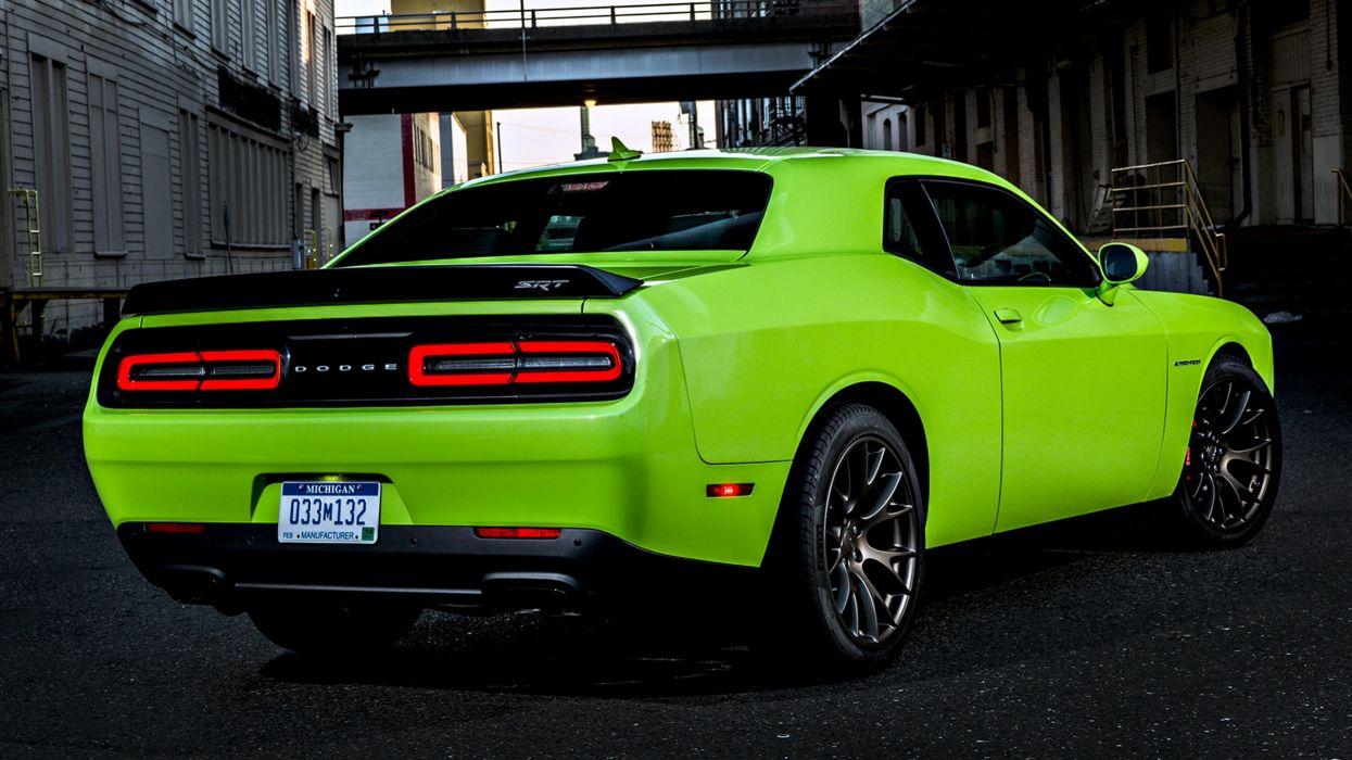 2015 Dodge Challenger SRT Hellcat cars motors road speed city green wallpaper