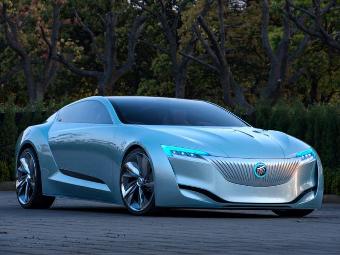 Buick Riviera Concept cars motors speed blue supercar trees floor wallpaper