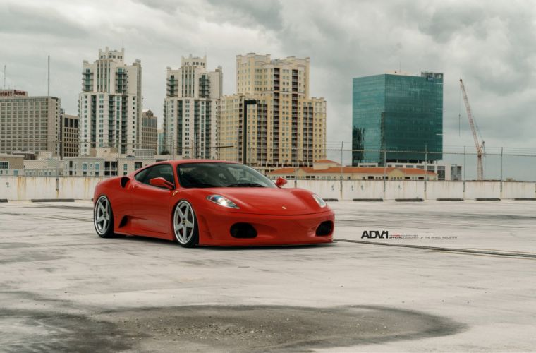 2015 ADV1 wheels tuning cars Ferrari F430 wallpaper