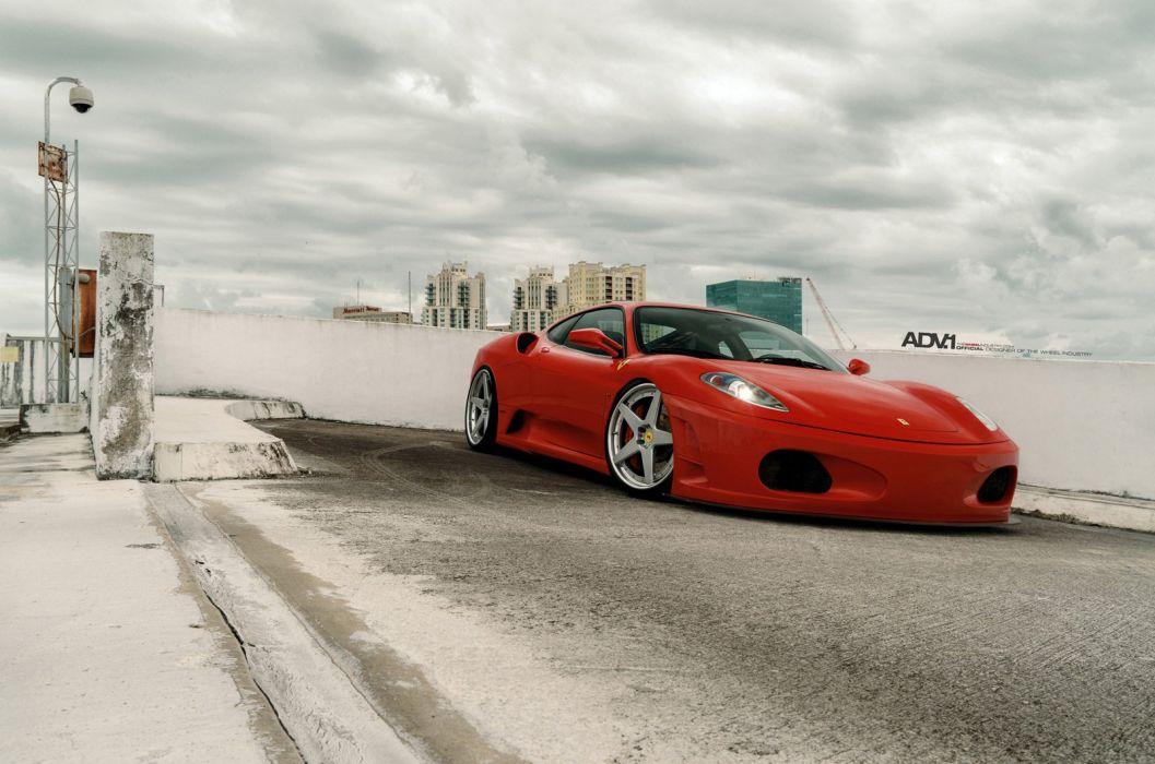 2015 ADV1 wheels tuning cars Ferrari F430 wallpaper