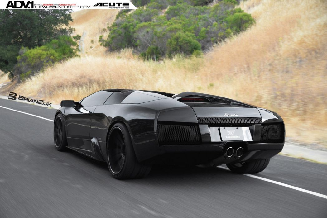 2015 ADV1 wheels tuning cars LAMBORGHINI MURCIELAGO roadster supercars wallpaper