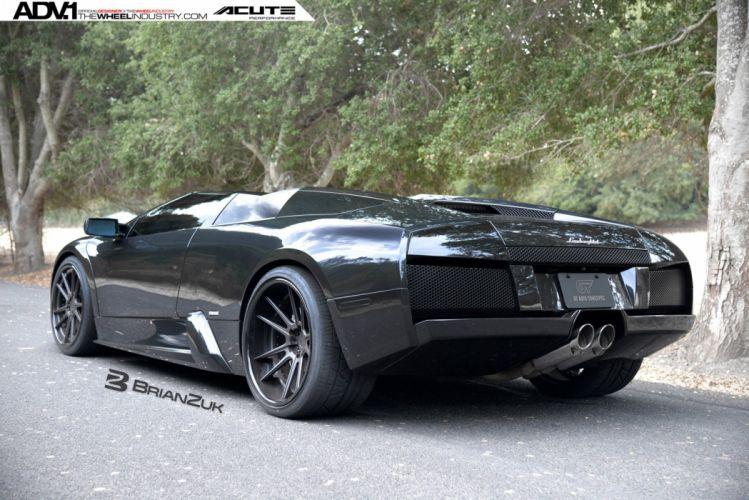2015 ADV1 wheels tuning cars LAMBORGHINI MURCIELAGO roadster supercars wallpaper