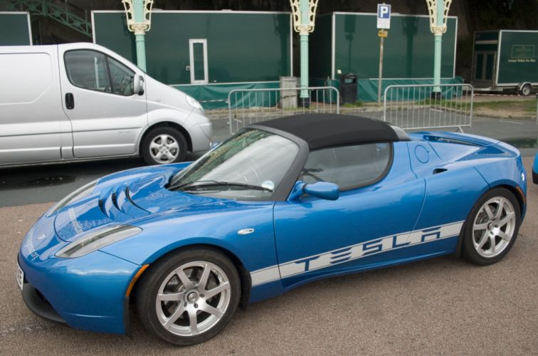 tesla roadster cars convertible electric wallpaper