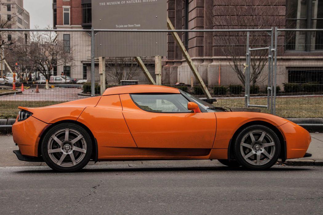 tesla roadster cars convertible electric wallpaper