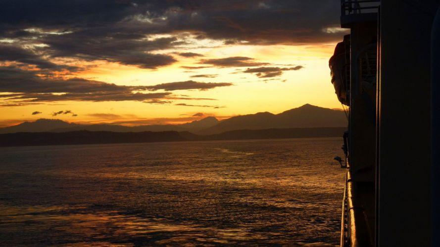 Sunrise costarica puntarenas water wallpaper