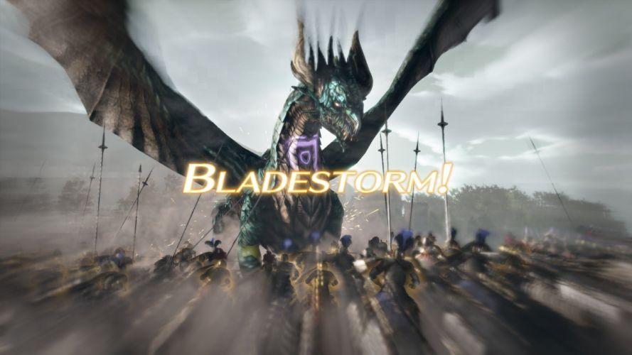 BLADESTORM tactical fighting fantasy medieval warrior battle dragon wallpaper