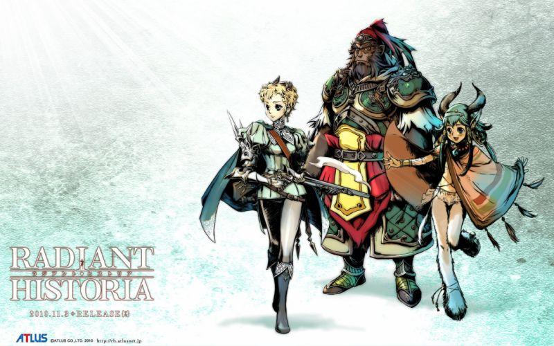 RADIANT HISTORIA Rajianto Hisutoria nintendo rpg fantasy anime 1rhist fighting warrior wallpaper